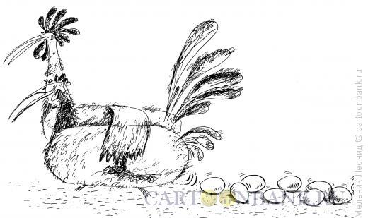 Карикатура: Смешные веселые куры (серия), Мельник Леонид