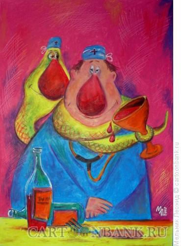 Карикатура: Друзья, Мельник Леонид