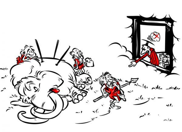 Карикатура: Ученые нашли виновных в истреблении мамонтов