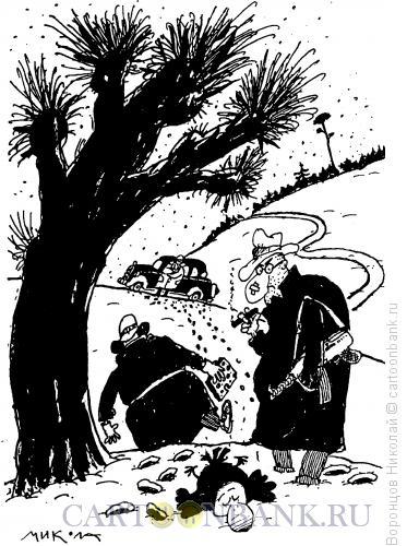 Карикатура: Мафиози, ворона и сыр, Воронцов Николай