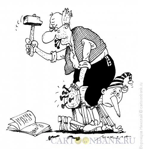 Карикатура: Буратино-двоечник, Воронцов Николай