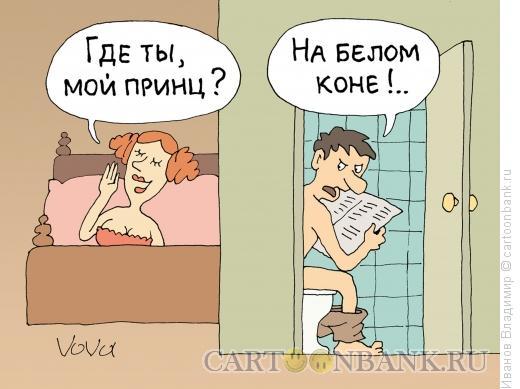 Карикатура: На белом коне, Иванов Владимир