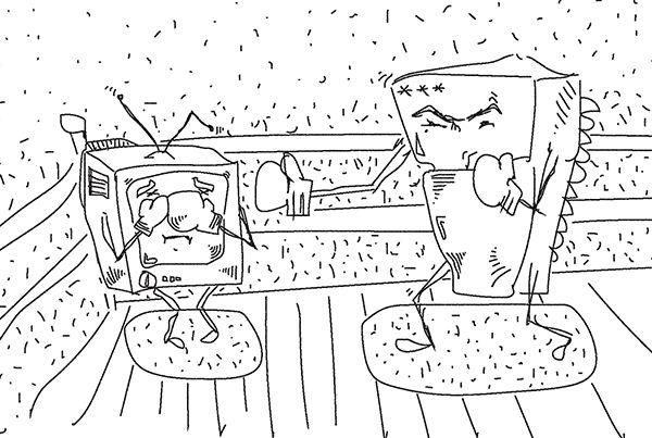 Карикатура: Борьба Холодильника с Телевизором, C1