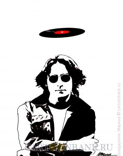 Карикатура: Леннон, Нимб, Святой, Бондаренко Марина