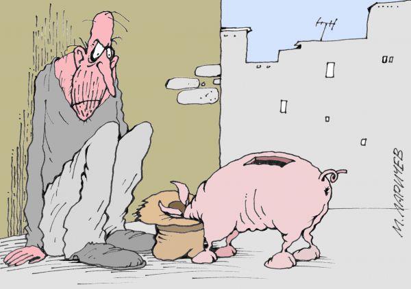 Карикатура: Кушать хочется, Михаил Ларичев