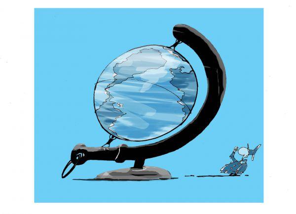 Карикатура: Глобус+