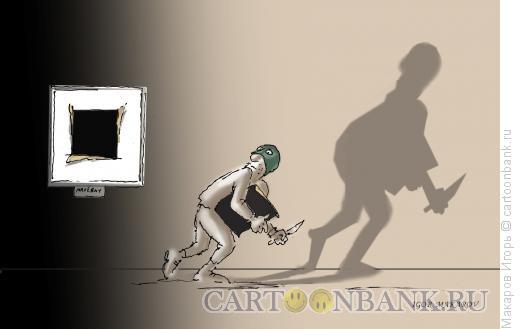 Карикатура: черный квадрат3, Макаров Игорь