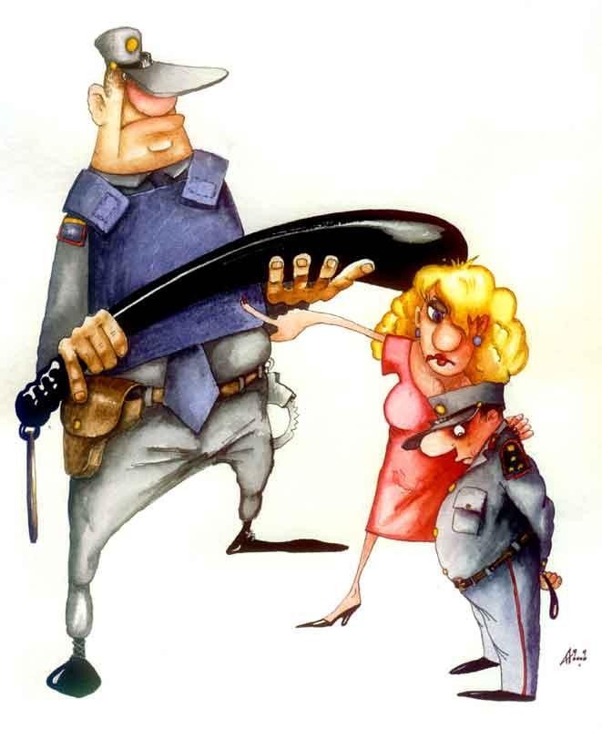 Карикатура: Дубинка, Ануфриев