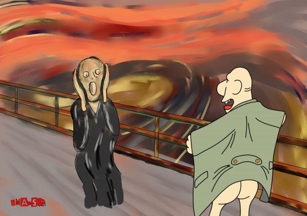 Карикатура: Крик Мунка, Игорь Иманский