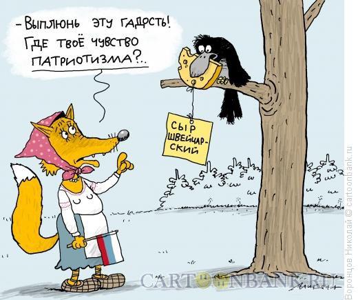 Карикатура: Патриотка, Воронцов Николай