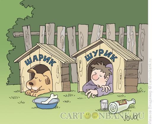 Карикатура: Шарик и Шурик, Иванов Владимир