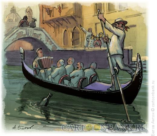 Карикатура: Ностальгия или тамада-баянист, Батов Антон