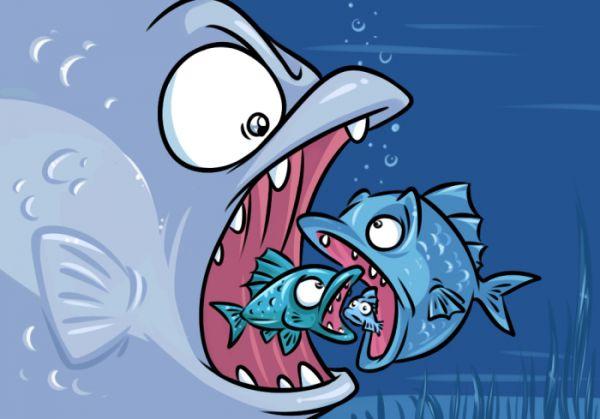 Карикатура: Большая рыба
