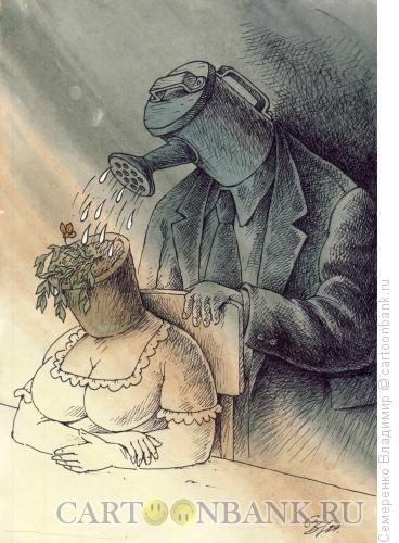 Карикатура: Чтобы не засохла, Семеренко Владимир