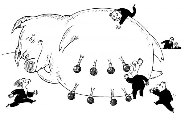Карикатура: Поросята, Максим Смагин