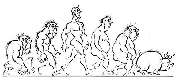 Карикатура: Эволюция, Евгений Осипов