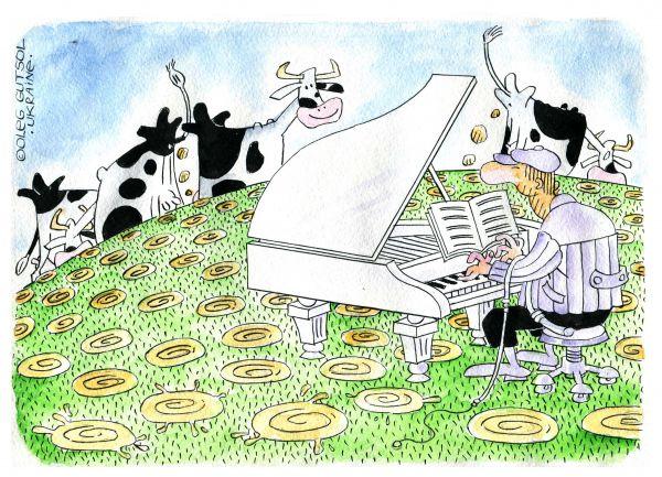 Карикатура: Ноктюрн, Олег Гуцол