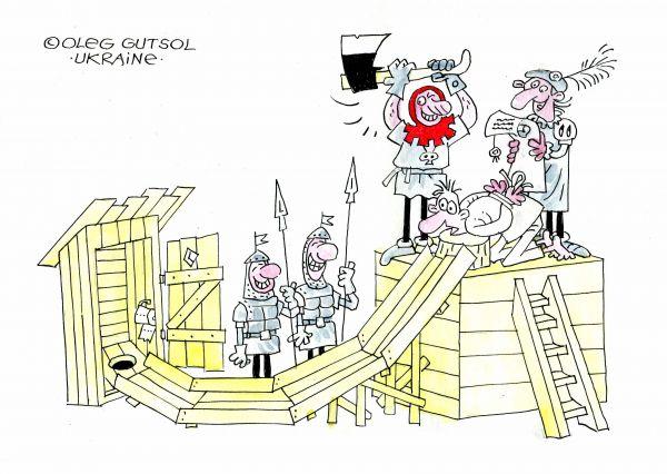 Карикатура: Суровый приговор, Олег Гуцол