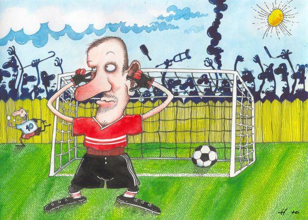 Карикатура: Гооооол!!!!!!!!, Юрий Наместников