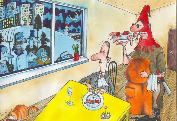 Карикатура: Язык за зубами, Юрий Наместников