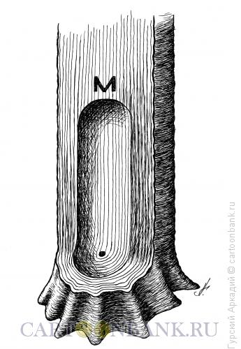 Карикатура: ствол дерева, Гурский Аркадий