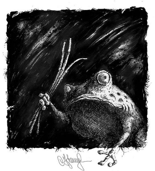 """Карикатура: Чёрный Ква:-""""Драть Малевичей надо!"""", Кир Непьющий"""