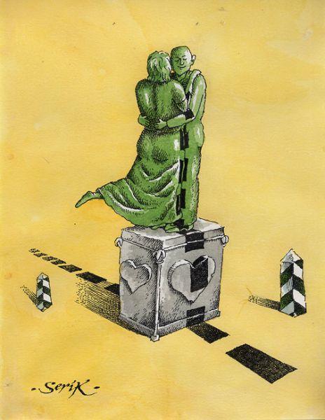 Карикатура: Границе чувства не подвластны, Кир Непьющий