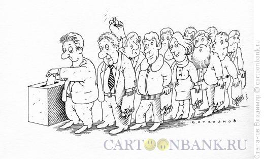 Карикатура: Избиратели, Степанов Владимир