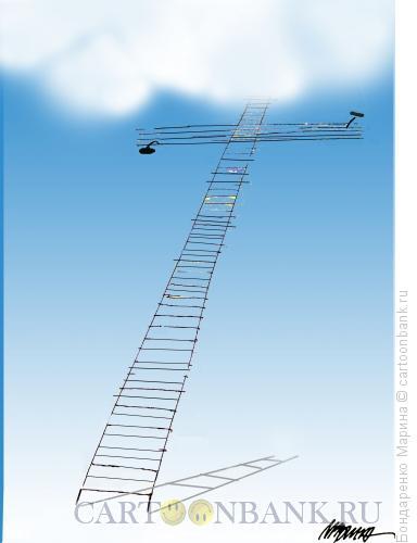 Карикатура: Лестница Крест Небо Гвозди, Бондаренко Марина