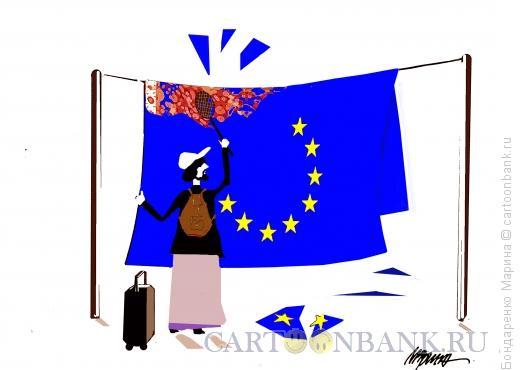 Карикатура: ЕВРОПЕЙСКИЙ КОВЕР, Бондаренко Марина