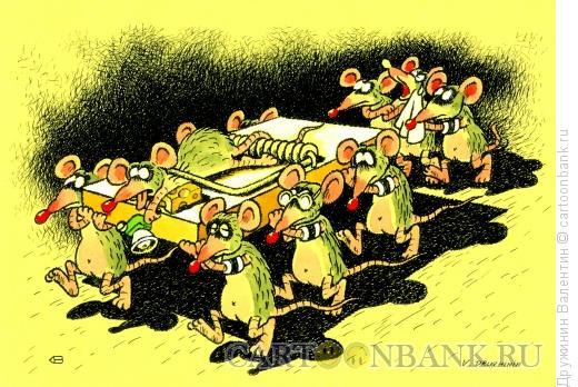 Карикатура: Похороны, Дружинин Валентин