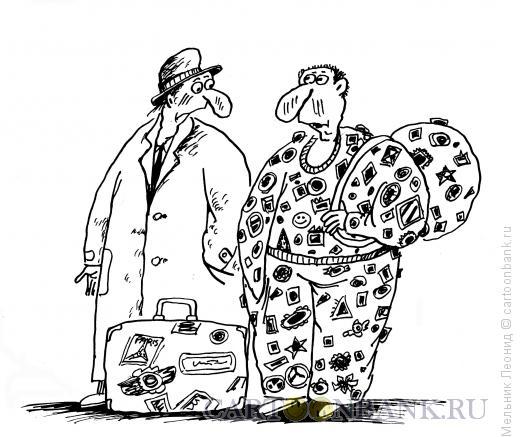 Карикатура: Туристы, Мельник Леонид