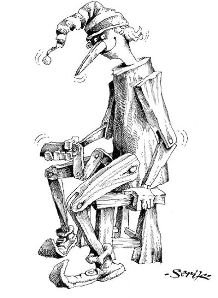Карикатура: Чем бы дитя не тешилось, лишь бы не... руками :-), Кир Непьющий