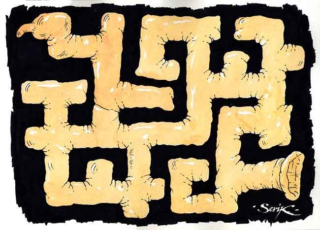 Карикатура: Выход найдёт лишь мудрый, Кир Непьющий