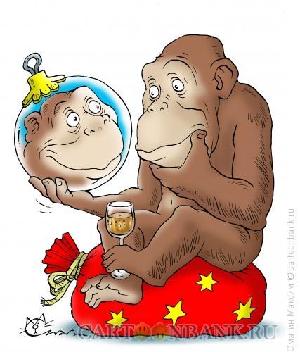Карикатура: Новогодние размышления, Смагин Максим