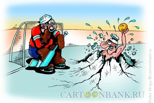 Карикатура: Водное поло и хоккей, Кийко Игорь