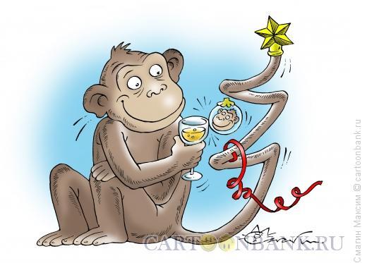 Карикатура: Хвостатая елка, Смагин Максим