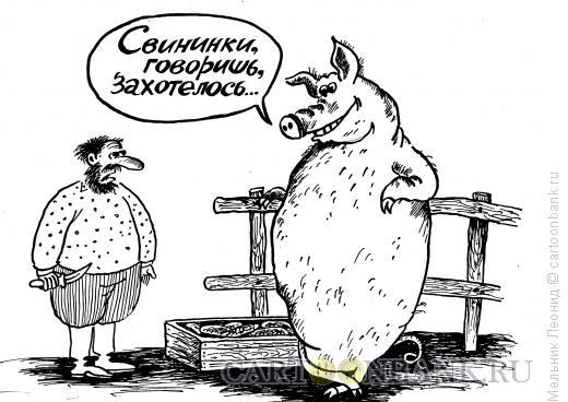 Карикатура: Нарвался, Мельник Леонид