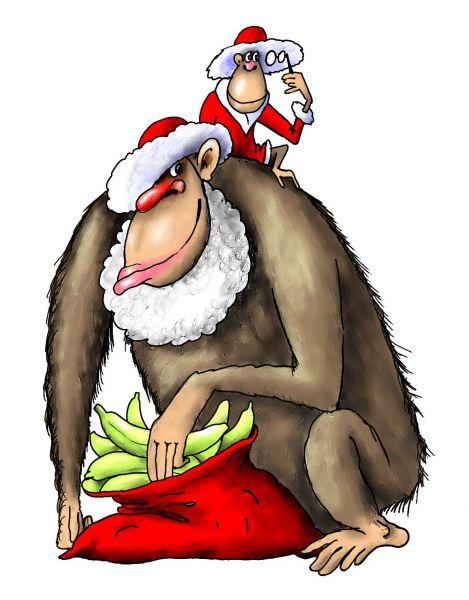 Карикатура: обезьяна1, Ануфриев