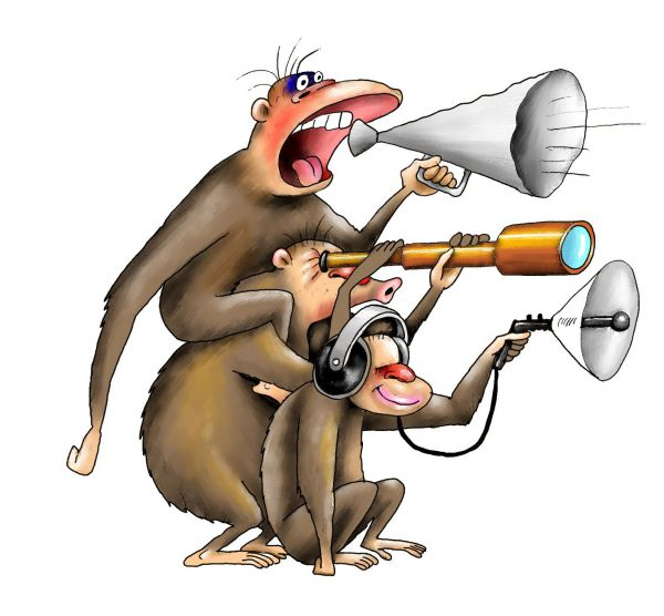 Карикатура: обезьяна4, Ануфриев