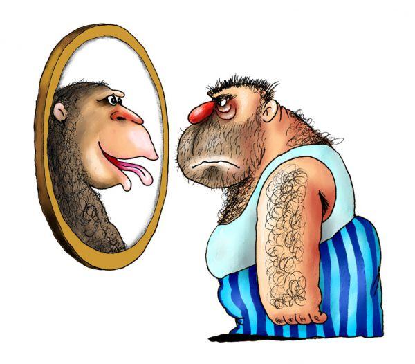 Карикатура: обезьяна5, Ануфриев