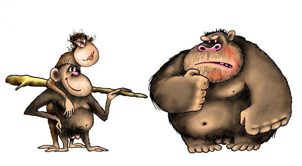 Карикатура: обезьяна8, Ануфриев