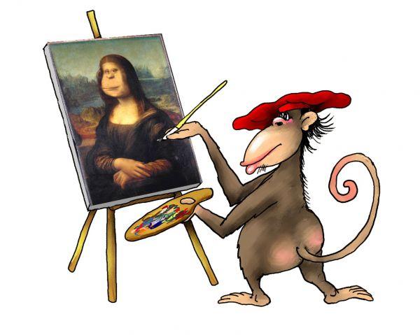 Карикатура: обезьяна9, Ануфриев