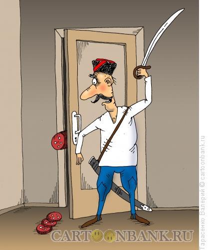 Карикатура: Психическая атака, Тарасенко Валерий