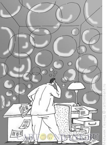Карикатура: Мыльные пузыри обещаний, Мельник Леонид
