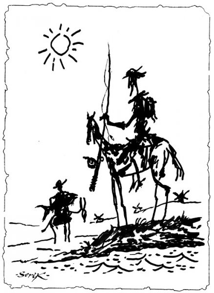Карикатура: Рыбный день, Кир Непьющий