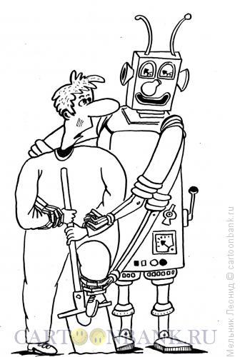 Карикатура: Эволюция, Мельник Леонид