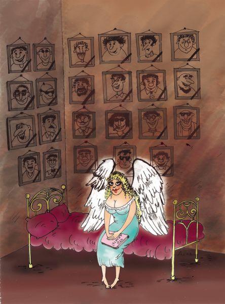 Карикатура: ангел, Алла Сердюкова