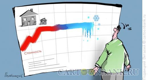 Карикатура: Цены замерзли, Подвицкий Виталий