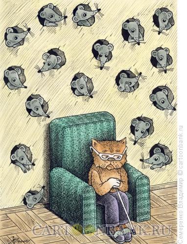 Карикатура: Старость - не радость, Семеренко Владимир